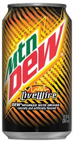 Caffeine in Mountain Dew Live Wire