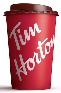 Tim Hortons Large Brewed Coffee