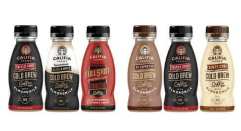 califia cold brew coffee flavors caffeine amount