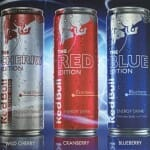 Red Bull Editions: Red, Blue, Silver, Yellow, Cherry, Orange