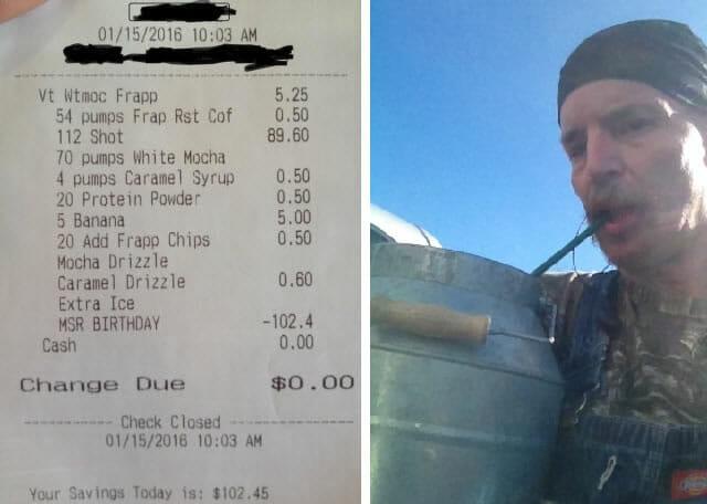 $102 Starbucks drink