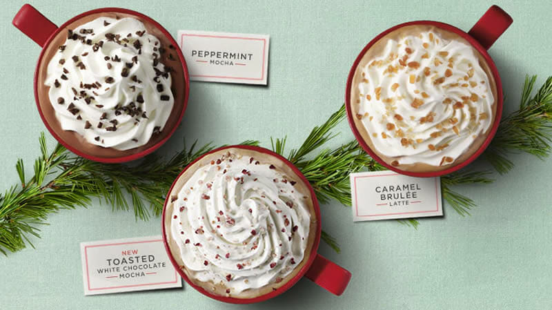 starbucks high calorie lattes